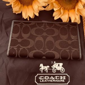 Authentic Coach Checkbook Wallet